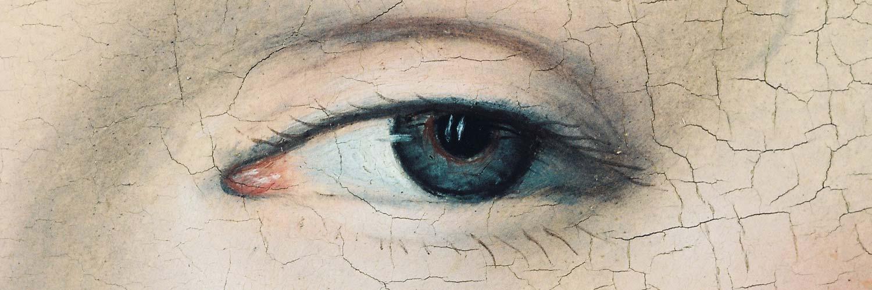 Peinture : détail d'un oeil de femme