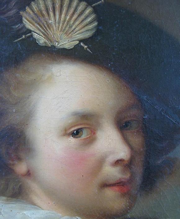 Exemple de tableau (Alexis Grimou) avant allègement du vernis
