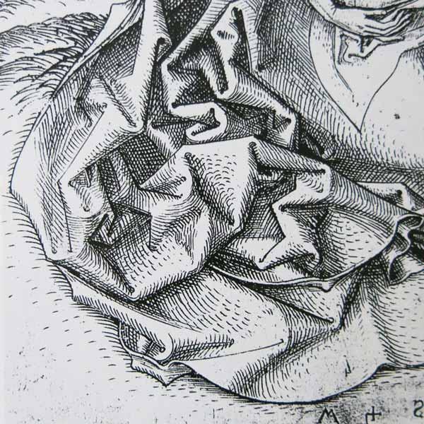 """Détail d'une gravure de Martin Schöngauer (Vierge à l'enfant)"""" width=""""300"""" height=""""300"""" /> Détail d'une gravure de Martin Schöngauer (Vierge à l'Enfant)"""